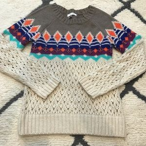 Delia's Chunky Knit Colorful Sweater